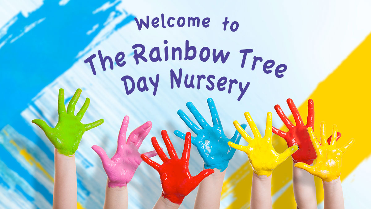 Rainbow Tree Hand Prints